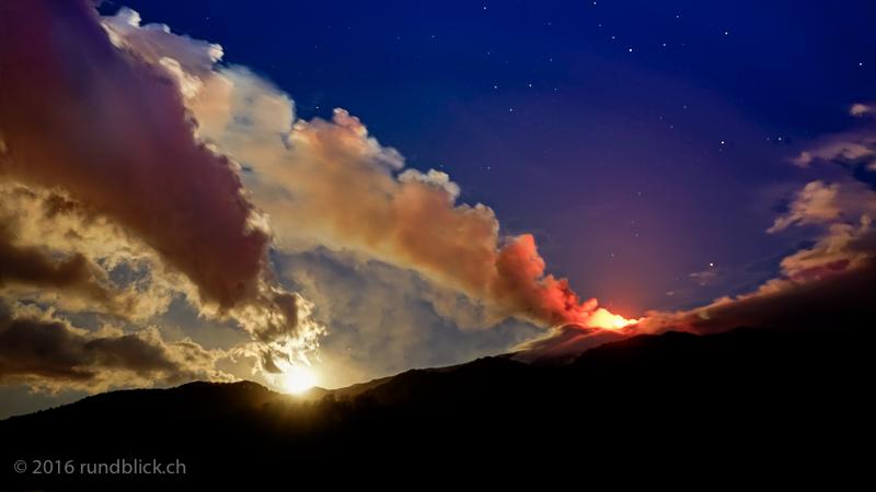 Mond und Eruption