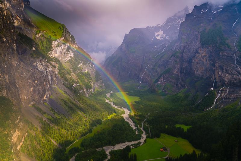 Regenbogen im Gasterntal