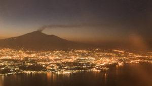 Catania und Etna vom Flugzeug aus gesehen