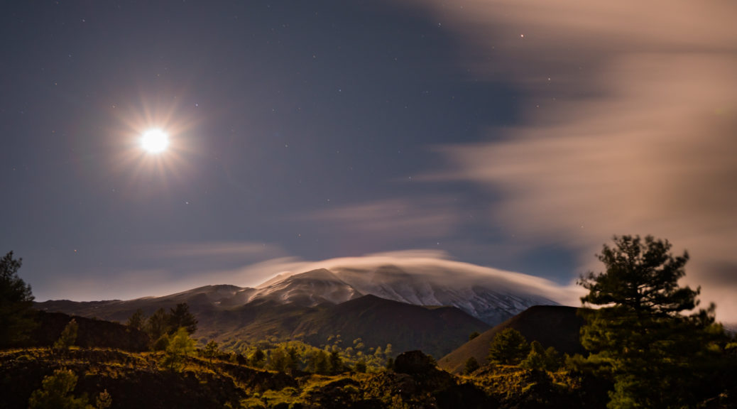Der Vulkan Etna unmittelbar vor einem Ausbruch